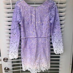 Lavender ombré lace romper